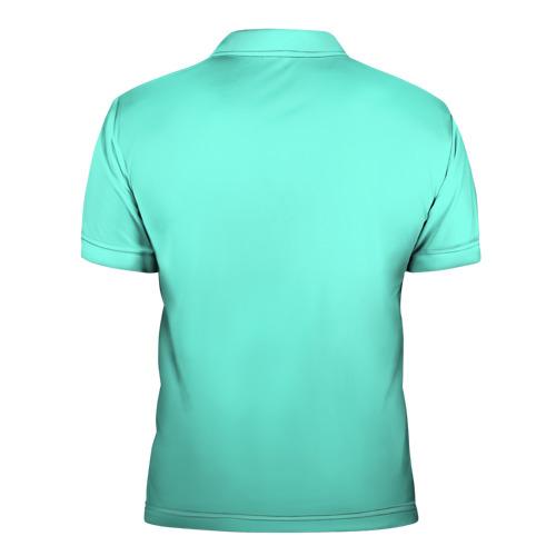 Мужская рубашка поло 3D  Фото 02, Цветочный принт