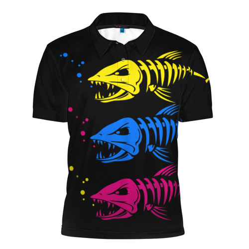 Мужская рубашка поло 3D Рыбалка