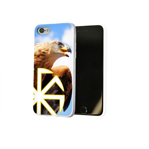 Чехол для Apple iPhone 8 силиконовый глянцевый  Фото 02, Русский орёл