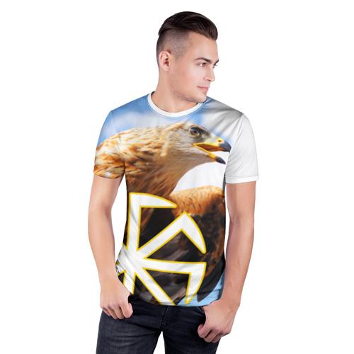 Мужская футболка 3D спортивная Русский орёл Фото 01