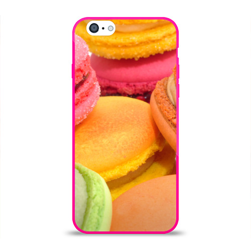 Чехол для Apple iPhone 6 силиконовый глянцевый  Фото 01, Макарун 2