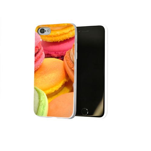 Чехол для Apple iPhone 8 силиконовый глянцевый  Фото 02, Макарун 2