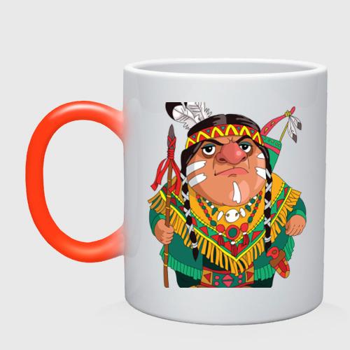 Кружка хамелеон  Фото 01, Забавные Индейцы 10