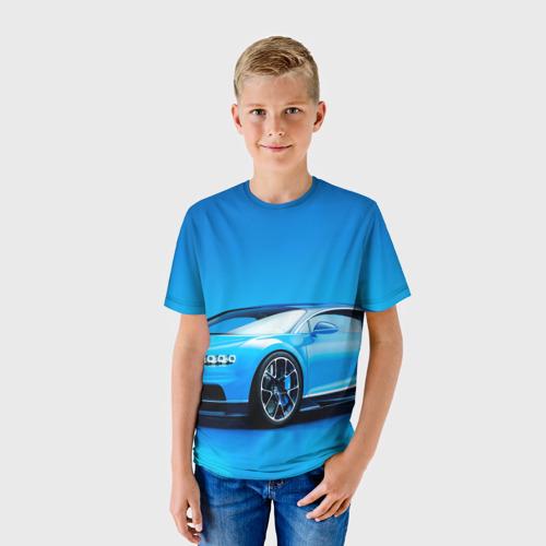 Детская футболка 3D Bugatti