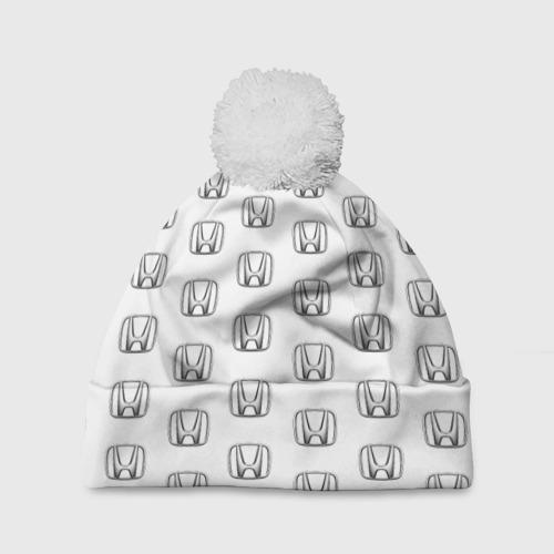 Шапка 3D c помпоном Honda