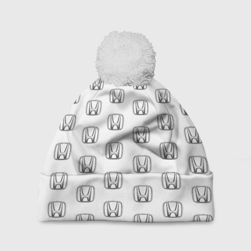 Шапка 3D c помпоном  Фото 01, Honda