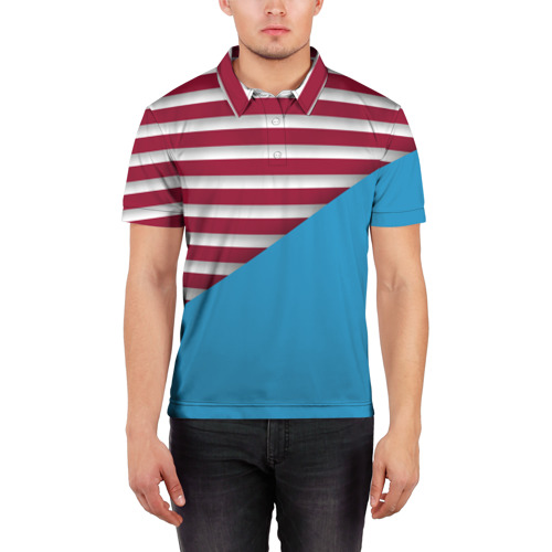 Мужская рубашка поло 3D  Фото 03, Stripes