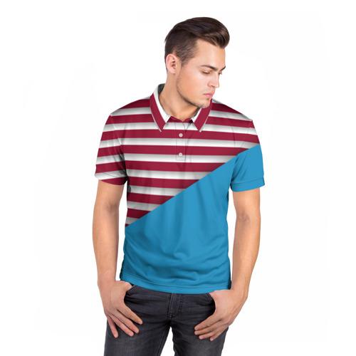 Мужская рубашка поло 3D  Фото 05, Stripes