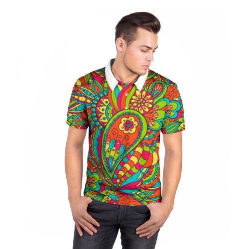 Мужская рубашка поло 3D  Фото 05, Дудл орнамент