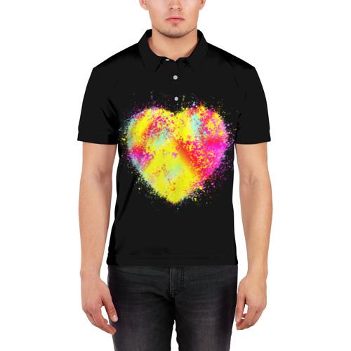Мужская рубашка поло 3D  Фото 03, Сердце