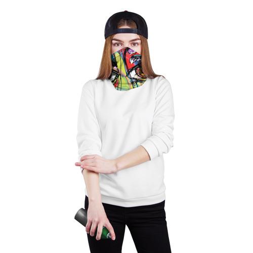 Бандана-труба 3D  Фото 02, Abstract girl graffiti