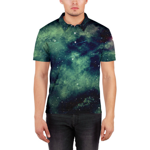 Мужская рубашка поло 3D  Фото 03, Падение звёзд