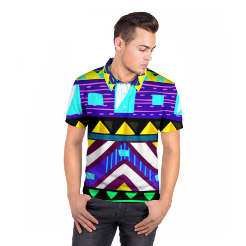 Мужская рубашка поло 3D  Фото 05, Этно