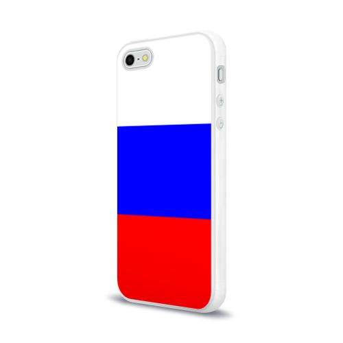 Чехол для Apple iPhone 5/5S силиконовый глянцевый Россия Фото 01