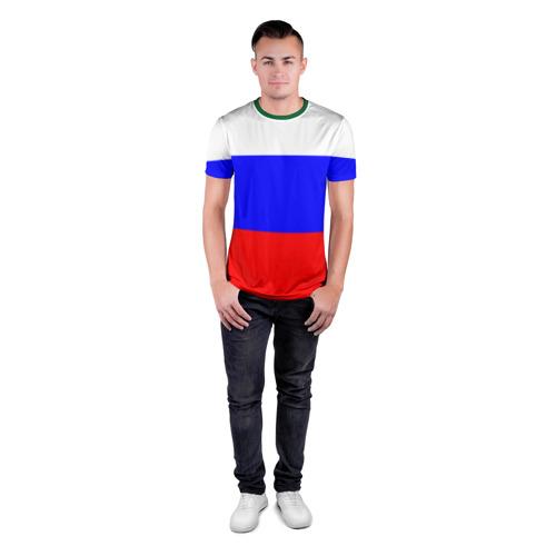 Мужская футболка 3D спортивная Россия Фото 01