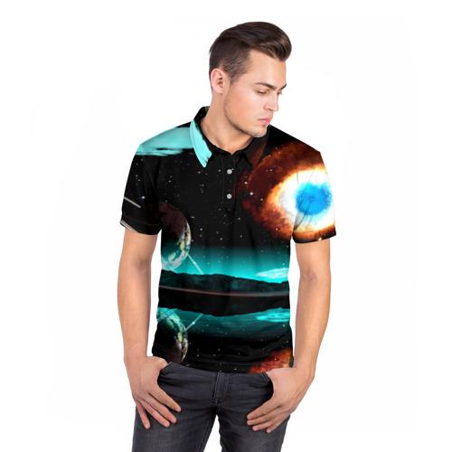 Мужская рубашка поло 3D  Фото 05, Планета