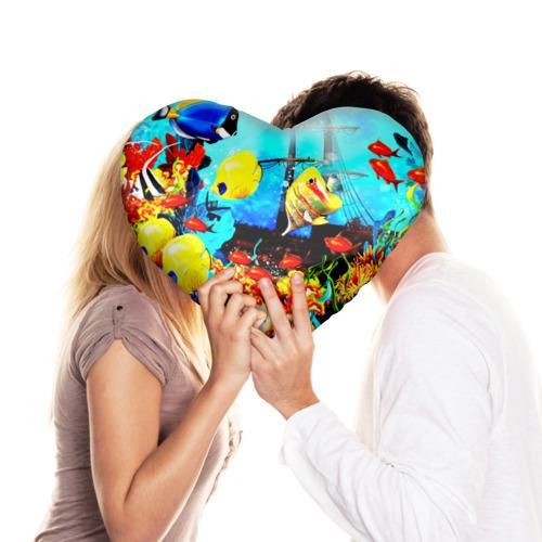 Подушка 3D сердце  Фото 03, Подводный мир