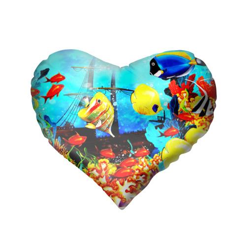 Подушка 3D сердце  Фото 02, Подводный мир