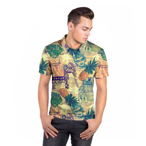Мужская рубашка поло 3D  Фото 05, Индия 2