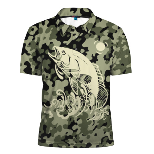 Мужская рубашка поло 3D  Фото 01, Рыбалка