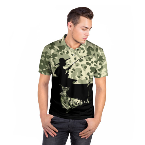 Мужская рубашка поло 3D  Фото 05, Рыбалка