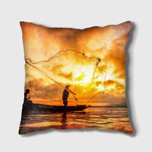 Подушка 3D  Фото 02, Рыбалка