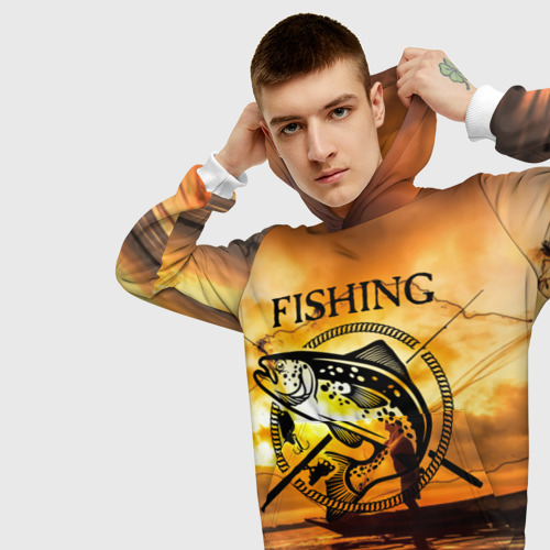 Мужская толстовка 3D  Фото 01, Рыбалка