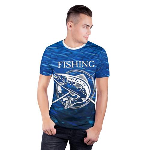 Мужская футболка 3D спортивная  Фото 03, Рыбалка
