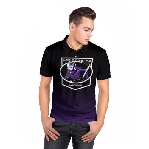 Мужская рубашка поло 3D  Фото 05, Los Angeles Kings