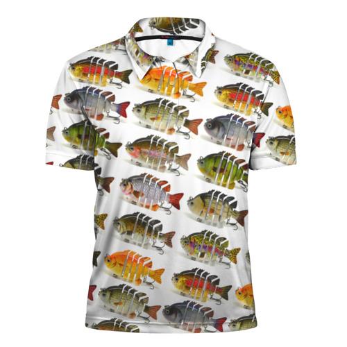 Мужская рубашка поло 3D Рыбки