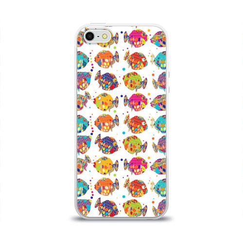 Чехол для Apple iPhone 5/5S силиконовый глянцевый Рыбки Фото 01