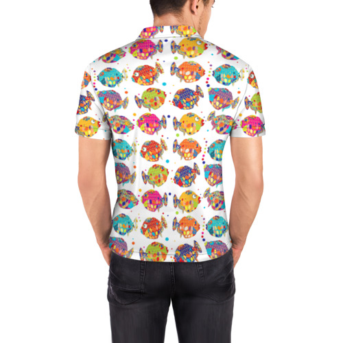 Мужская рубашка поло 3D  Фото 04, Рыбки
