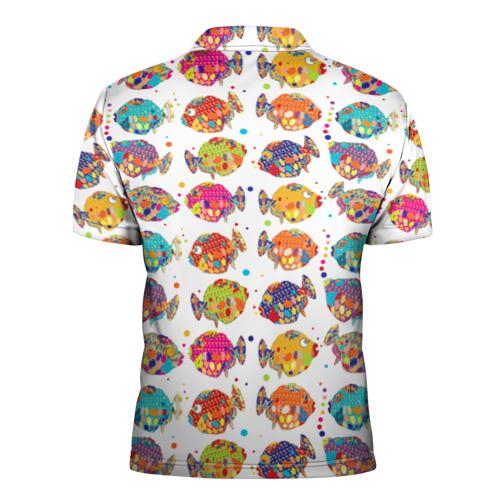 Мужская рубашка поло 3D  Фото 02, Рыбки