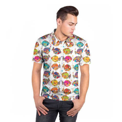 Мужская рубашка поло 3D  Фото 05, Рыбки