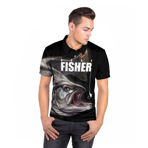 Мужская рубашка поло 3D  Фото 05, Лучший рыбак