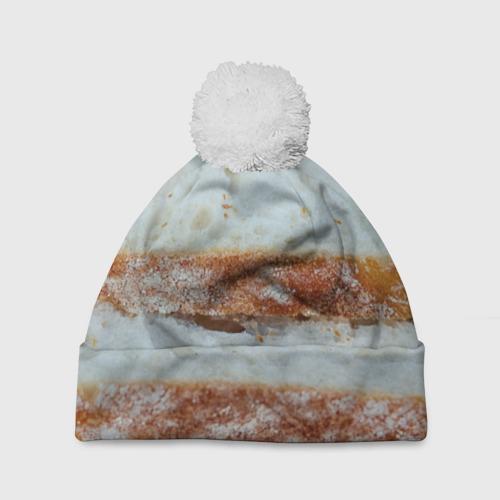 Шапка 3D c помпоном  Фото 01, Хлеб