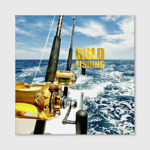 Холст квадратный  Фото 02, Золотая рыбалка