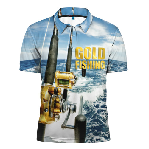 Мужская рубашка поло 3D  Фото 01, Золотая рыбалка
