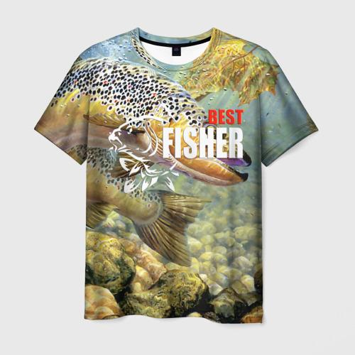 Мужская футболка 3D Лучший рыбак