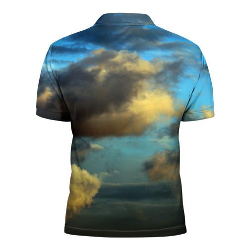 Мужская рубашка поло 3D  Фото 02, Небо
