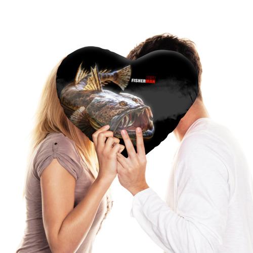 Подушка 3D сердце  Фото 03, Лучший рыбак