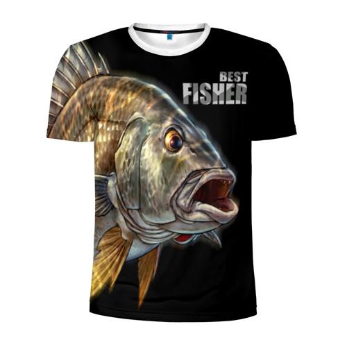 Мужская футболка 3D спортивная  Фото 01, Лучший рыбак