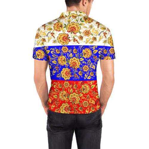 Мужская рубашка поло 3D  Фото 04, Хохлома