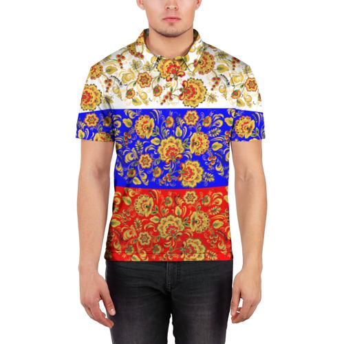 Мужская рубашка поло 3D  Фото 03, Хохлома