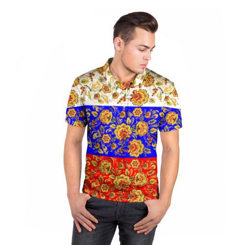 Мужская рубашка поло 3D  Фото 05, Хохлома
