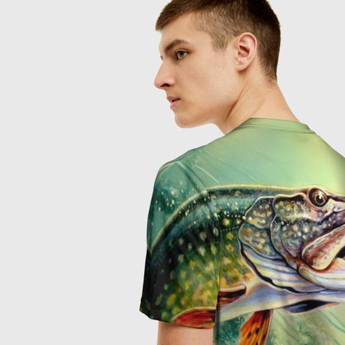 Мужская футболка 3D Лучший рыбак Фото 01