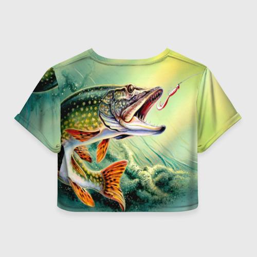 Женская футболка 3D укороченная  Фото 02, Лучший рыбак