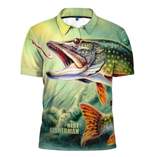 Мужская рубашка поло 3D Лучший рыбак