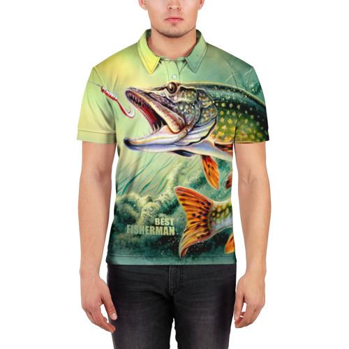 Мужская рубашка поло 3D  Фото 03, Лучший рыбак
