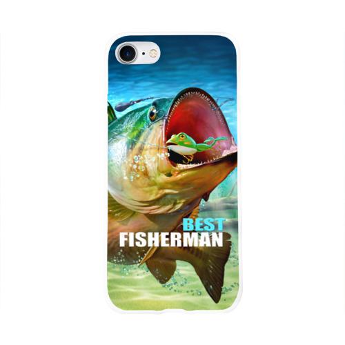 Чехол для Apple iPhone 8 силиконовый глянцевый  Фото 01, Лучший рыбак